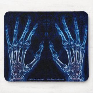 Mousepad azul de la radiografía de las manos vers alfombrillas de raton