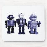 mousepad azul de los robots tapete de raton