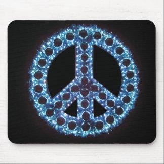 mousepad azul del signo de la paz