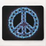 mousepad azul del signo de la paz alfombrilla de ratón