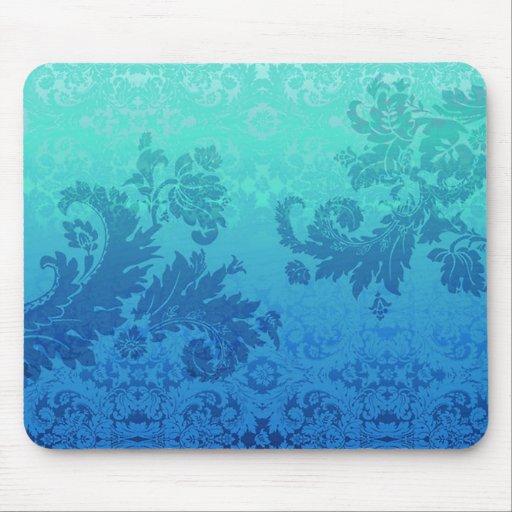 mousepad azul del vintage alfombrillas de ratones