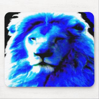 Mousepad azul principal del león tapete de ratón