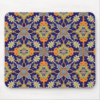 Mousepad azul y anaranjado elegante