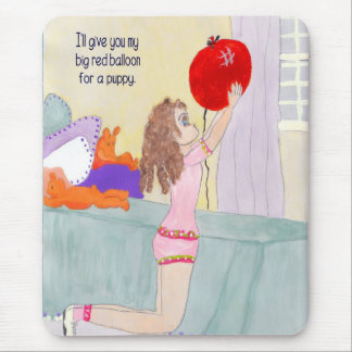 Mousepad, Balloon for a Puppy Mouse Pad