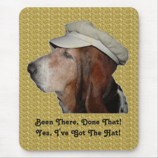 Mousepad Basset Hound Been There, Done That