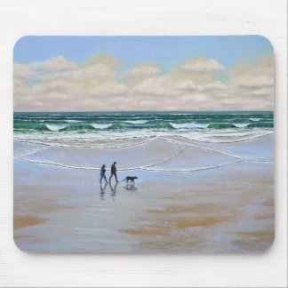 Mousepad ~ Beach Dog Walk