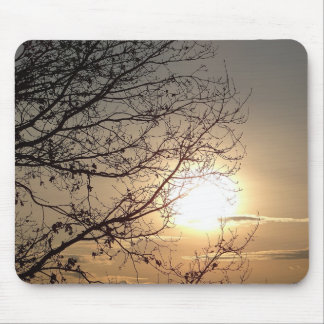 Mousepad beautiful sunset with branchs