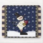 Mousepad - Big Heart Christmas Snowman