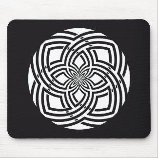 Mousepad   Black and White Celtic Design