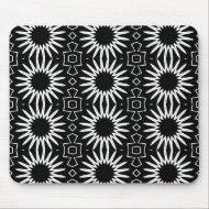 Mousepad Black White Style Floral Print