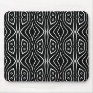 Mousepad Black White Style Print