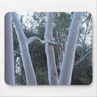 mousepad blanco de los árboles