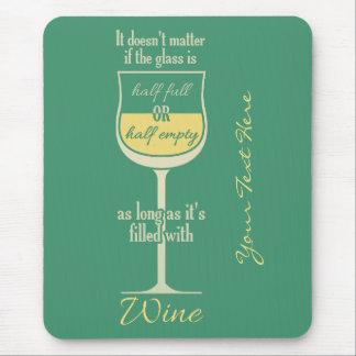 Mousepad blanco del personalizado de la copa de vi