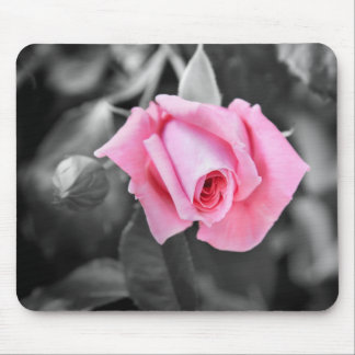 Mousepad blanco y negro color de rosa rosado román tapete de ratones