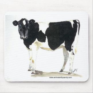 mousepad blanco y negro de la vaca tapetes de raton