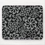 Mousepad blanco y negro hermoso tapete de ratón
