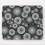 Mousepad blanco y negro hermoso tapetes de raton