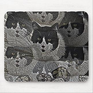 mousepad blanco y negro único del diseñador del ga alfombrilla de ratón