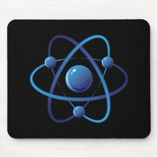 Mousepad: Blue atom Mouse Pad