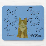 Mousepad - Blues Cat