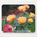 Mousepad bonito de los rosas tapetes de ratones