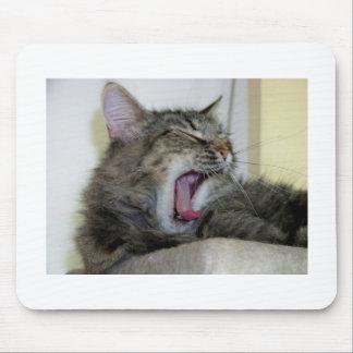 Mousepad Bostezando gato