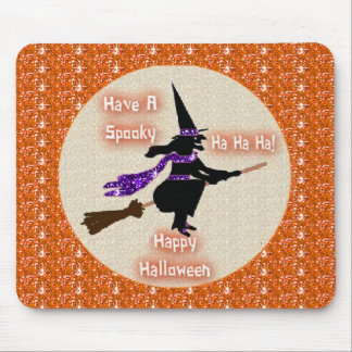 Mousepad Broom Stick Witch