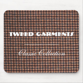 MousePad: Brown Tweed Fabric Mouse Pad
