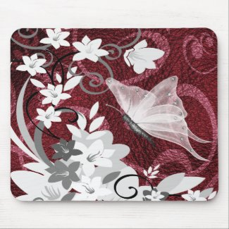 Mousepad-Butterfly Floral mousepad