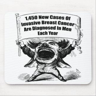 Mousepad - cáncer del pecho de los hombres