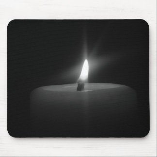 Mousepad Candle light in Black & White