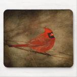 Mousepad cardinal masculino alfombrilla de raton