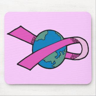 Mousepad - cinta del mundo del cáncer de pecho