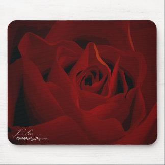 Mousepad color de rosa de color rojo oscuro