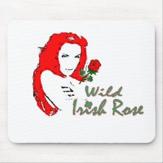 Mousepad color de rosa irlandés salvaje tapete de ratones