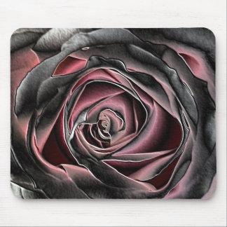 Mousepad color de rosa negro dramático