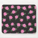 Mousepad color de rosa negro y rosado tapetes de ratones
