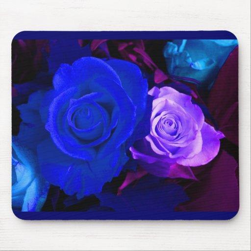 Mousepad color de rosa púrpura azul - personalizab