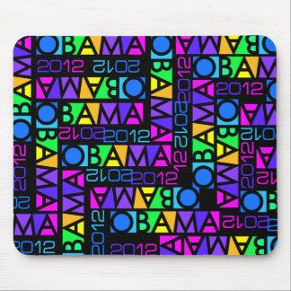 Mousepad colorido 2012 de Obama Tapetes De Ratón