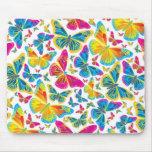 Mousepad colorido brillante de las mariposas tapete de raton