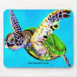 mousepad colorido de la tortuga alfombrilla de ratones