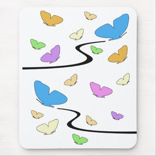 Mousepad colorido, que vuela de las mariposas alfombrillas de ratones