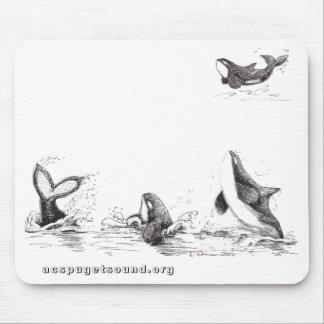 Mousepad con 4 orcas juguetonas alfombrillas de ratones