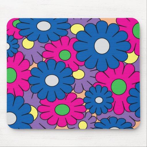 Mousepad con diseño floral colorido del popart tapete de raton
