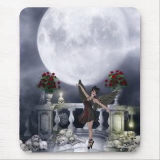 Mousepad con el baile gótico y la luna del ángel tapetes de ratón