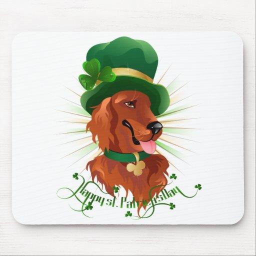 Mousepad con el carácter de Irish Setter Alfombrilla De Raton