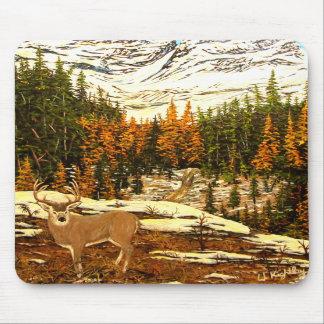 Mousepad con el ciervo mula en alto país tapete de raton