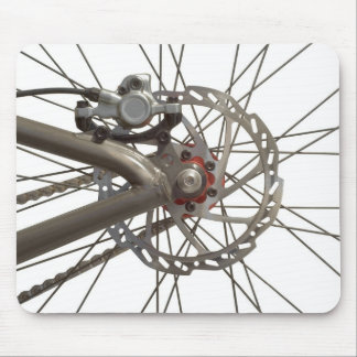Mousepad con el eje de rueda de la bici alfombrillas de ratones