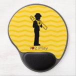 Mousepad con el jugador de trombone alfombrillas con gel