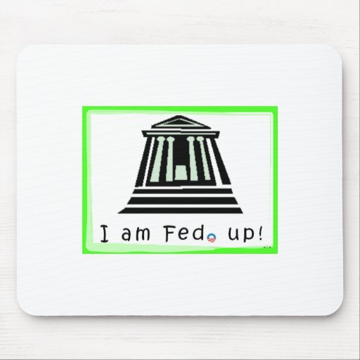 ¡Mousepad con el logotipo verde de neón… FED Up! Tapete De Ratón